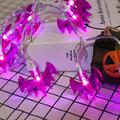 Battery Operated Halloween White Hollow Metal Skull LED String Lights Halloween Holiday Christmas Party Garden Decor Lights