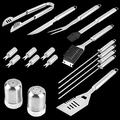 BBQ Grill Tool Set- 18 Piece Stainless Steel Barbecue Grilling Set of Tool for Barbecue Grilling for BBQ BBQ for Picnic Grill Grill Set