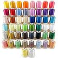 New brothread 50 Spools Embroidery Machine Thread Kit Including 40 Brother Colors+8 Variegated Colors+2 Metallic Colors for Brother Janome Singer Pfaff Husqvarna Embroidery Sewing Machines
