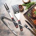 3 in 1 BBQ Tool Set - Set of Tool for Barbecue w/Black Red Handle Set of Tool for Barbecue Grilling for BBQ BBQ for Picnic Grill Grill Set
