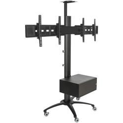 Dual Screen TV Stand with Power Distribution & On/Off Switch