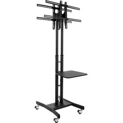 """Double Sided TV Stand Mounts Two 32"""" to 65"""" Screens"""