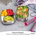 Dapota Stainless Steel Bento Box Set – 2-Leak-Proof-Layer Silicone-Sealed Bento Lunch Box For Kids, Size 7.0 H x 5.0 W x 4.0 D in   Wayfair