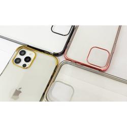 Coque en TPU galvanisé pour iPhone avec 2 protections d écran : iPhone X - Xs / Noir