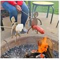 Stainless Steel Hot Dog Marshmallow Roaster Steel Hot Dog/Marshmallow Roasters - Funny Metal Rod, Unique Style of Outdoor Camp Fire Roasting Stick,Bonfire and Grill (Boy + Girl)