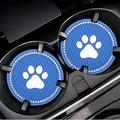 zhgzhzwlf 2 Pack Car Coaster Car Cup Holders Coasters for Women Natural Life Car Coaster Funny Cup Holder Accessories for Car Keep Clean Car Accessories Easy Removal from Auto Cupholder,Dark Blue
