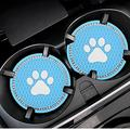 zhgzhzwlf 2 Pack Car Coaster Car Cup Holders Coasters for Women Natural Life Car Coaster Funny Cup Holder Accessories for Car Keep Clean Car Accessories Easy Removal from Auto Cupholder,Light Blue