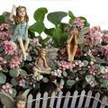 6Pcs Miniature Fairies Figurines Accessories, Planter Pot Hanger Decorations Fairies Flower Pot Resin Fairy Garden Figurines Angel Accessories Ornaments for Outdoor Decor