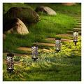ZHANMAUU Solar Pathway Lights,Solar Lawn Light Decorative Garden Hollow Lawn Lamp 6 Pack Solar Lanterns Outdoor Solar Lights Decorative Waterproof, Garden, Patio, Lawn, Yard (Color : 2White)