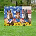 Happy 4th of July Yard Sign, Independence Day Sign, USA Fourth of July Yard Sign, America Horse Patriotic Yard Sign (24x18)