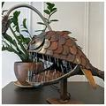 GOLOFEA Creative Angler Fish Lamp Art Lamp,Cafe Art in The Luminaire with a High Collection Value Flexible Lamp Head for Adjustments Art Light Large