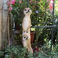 YAOLUU Garden Statues Outdoor Garden Resin Mongoose Crafts Statues Decoration Home Courtyard Balcony Cute Cat Animal Sculptures Decor Park Ornaments Outdoor Statues (Color : B)