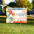 Happy 4th of July Yard Sign, Independence Day Yard Sign (24x18)