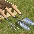 Yinrunx Gardening Tool Stainless Steel Shovel, Garden Flower Shovel, Potted Soil Shovel with Wooden Handle, Gardening Bonsai Tools, Used for Transplanting, Digging Grass, Weeding