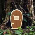 YAOLUU Garden Statues Creative Yard Art Garden Sculpture Decor Home Window Door for Trees Open Doors Gnome Garden Accessory Home Decoration Gifts Outdoor Statues (Color : Silver)