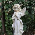 YAOLUU Garden Statues Outdoor Home Small Angel Fairy Sculpture Resin Ornaments Courtyard Desktop Figurines Accessories Art Character Garden Decoration Outdoor Statues (Color : B)