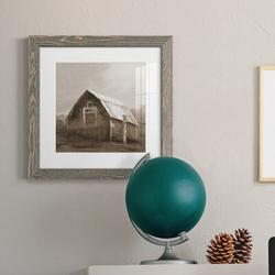 August Grove® RED BARN VI Red Barn VI - Picture Frame PrintPaper in Brown, Size 17.0 H x 17.0 W x 1.0 D in   Wayfair