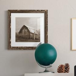 August Grove® RED BARN VI Red Barn VI - Picture Frame PrintPaper in Brown, Size 17.0 H x 17.0 W x 1.0 D in | Wayfair
