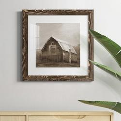 August Grove® RED BARN VI Red Barn VI - Picture Frame PrintPaper in Brown, Size 31.5 H x 31.5 W x 1.0 D in   Wayfair