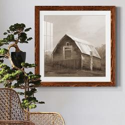 August Grove® RED BARN VI Red Barn VI - Picture Frame PrintPaper in Brown, Size 31.5 H x 31.5 W x 1.0 D in | Wayfair