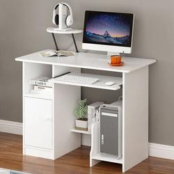 Latitude Run® Multipurpose Home Office Computer Writing Desk 35Inch Wood in Brown/White, Size 28.3 H x 35.4 W x 18.9 D in   Wayfair