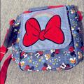Disney Other | Disney Minnie Mouse Crossbody Lunch Box - New | Color: Gray/Blue | Size: Lunch Box