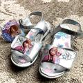 Disney Shoes | Disney Frozen Light Up Sandals Size 12 | Color: Blue/Silver | Size: 12g