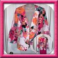 Nine West Jackets & Coats | Gorgeous Nine West Floral Print Blazer Nwt | Color: Orange/Pink | Size: 10