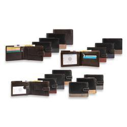 Portefeuilles paysage de Dattini en cuir véritable: Modèle 3000390-006 / Noir-beige / x1