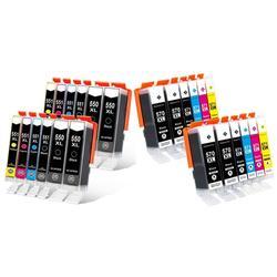 Canon : Pack de 12 cartouches 550-551 XL avec 4 noires 550 XL
