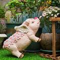 YAOLUU Garden Statues Home Garden Creative Pig Flower Pot Outdoor Statue Pots Succulent Plant Pot Garden Accessories Bonsai Pot Courtyard Decor Outdoor Statues