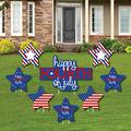 vipsung 4th of July - Yard Sign and Outdoor Lawn Decorations - Independence Day Party Yard Signs - Set of 8