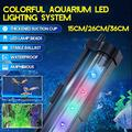 Quarium Light Led Waterproof Fish Tank Light Underwater Fish Lamp Aquariums Lighting Plant Lamp 15 36cm 220v Seven Color