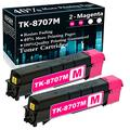 Compatible 2 Magenta TK-8707M Ink Cartridge Replacement for Kyocera TASKalfa 6550ci 6551ci 7550ci 7551ci Printer Cartridges,Sold by TopInk