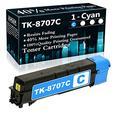 Compatible 1 Cyan TK-8707C Ink Cartridge Replacement for Kyocera TASKalfa 6550ci 6551ci 7550ci 7551ci Printer Cartridges,Sold by TopInk