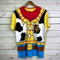 Disney Shirts | Disney Pixar Toy Story Woody Costume T-Shirt Sz. L | Color: Yellow | Size: Large