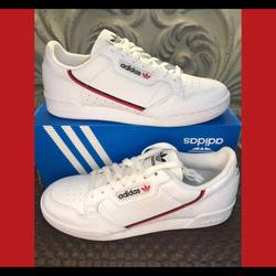 Adidas Shoes | Adidas Originals Continental 80 New ..Casual Shoes | Color: White | Size: 12
