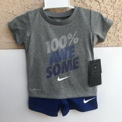 Nike Matching Sets   Nike Baby Boys 2-Pc Short Set Sz 12 Months   Color: Blue/Gray   Size: 12mb