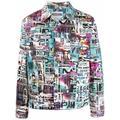 Glitch-print Denim Jacket - White - Moschino Jackets