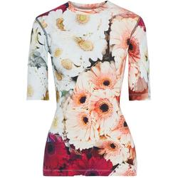 Floral-print Stretch Lyocell And Cotton-blend Jersey T-shirt - Blue - PS by Paul Smith Tops