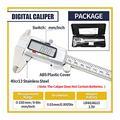 Tool Digital Caliper/micrometer Measuring Tool, 6-inch/150 Mm Stainless Steel Vernier Caliper, With Large LCD Display, Inch/metric Conversion caliper measuring tool (Color : Box Digital Caliper)