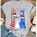 Funny Cat Usa Flag Red White Blue 4th Of July T-Shirt, Usa Flag Cat 4th Of July Shirt, Cat Lover Shirt