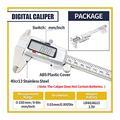 Tool Digital Caliper/micrometer Measuring Tool, 6-inch/150 Mm Stainless Steel Vernier Caliper, With Large LCD Display, Inch/metric Conversion caliper measuring tool (Color : Digital Caliper)