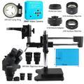 CHUNSHENN 3.5X 7X 45X 90X Trinocular Stereo Microscope Double Boom Stand Zoom Simul Focal+38MP Camera Microscope For Industrial PCB Repair (Color : Black)