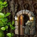 Lovely Courtyard Dragon Sculpture Resin,Decorative Outdoor Dragon Garden Statue,Window Shape Garden Dragon Statue,Wall Art Decor Indoor Outdoor (B)