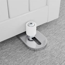 HAHAEMALL New Version Sliver Barn Door Floor Guide, Barn Door Bottom Guide- Flooring Frame Support Barn Door Guides, Adjustable Roller | Wayfair