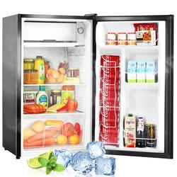 Kozart 3.2 Cubic Feet Mini Refrigerator Compact Refrigerator w/ Freezer Flip Door 5 Temperature Adjustable Settings Metal in Black | Wayfair