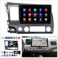 ihometea 10.1Inch HD Android Car GPS Navigation Wifi Radio Player For Honda Civic 06-11 in Gray, Size 5.9 H x 19.7 W x 13.8 D in   Wayfair