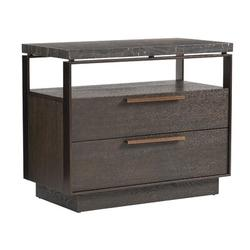 Barclay Butera Park City 2 - Drawer Nightstand in Dark Mocha Wood in Black/Brown/Gray, Size 28.0 H x 34.0 W x 18.0 D in | Wayfair 01-0930-624