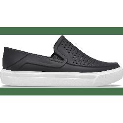 Crocs Black / White Kids' Citilane Roka Slip-On Shoes